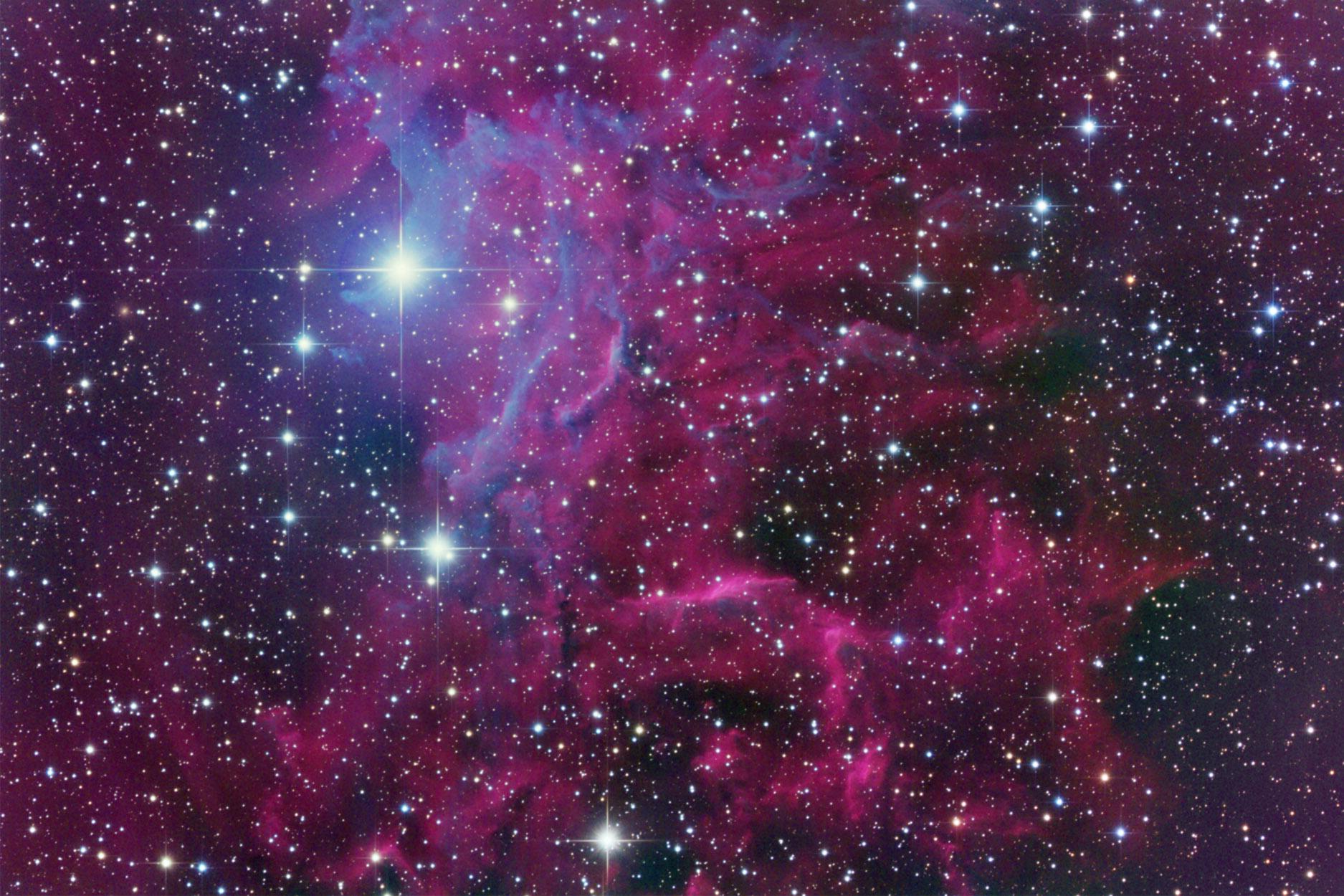 IC 405 Nebula - Pics about space